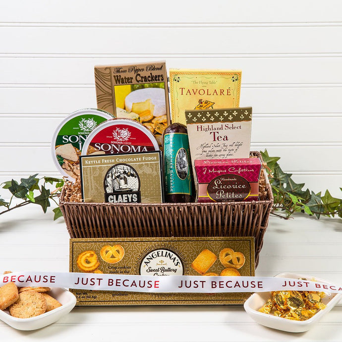 Just Because Tasteful Greetings - GiftBasket.com - Gift Basket