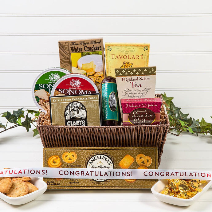 Congratulations Tasteful Greetings - GiftBasket.com - Gift Basket