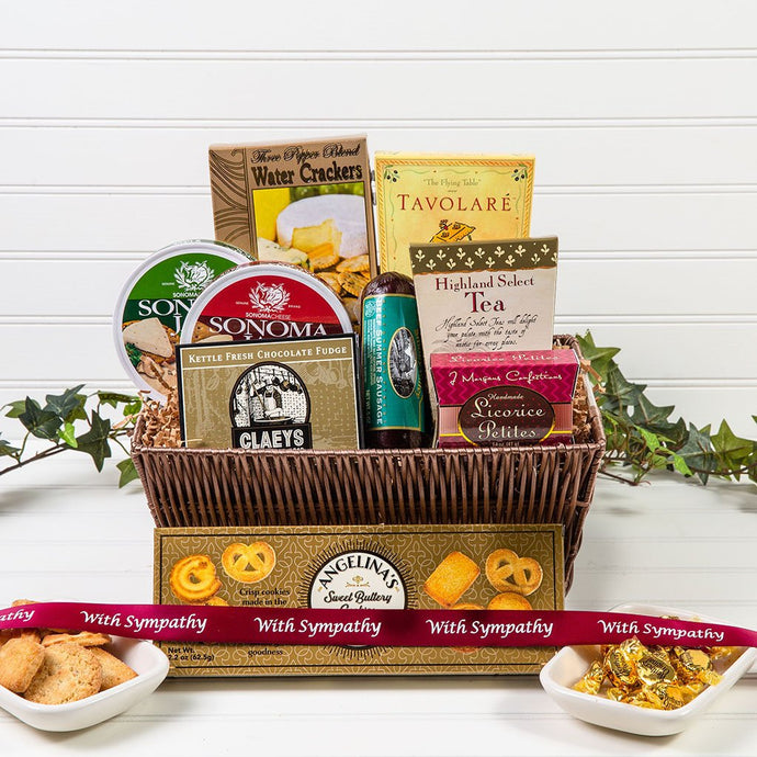 With Sympathy Tasteful Greetings - GiftBasket.com - Gift Basket