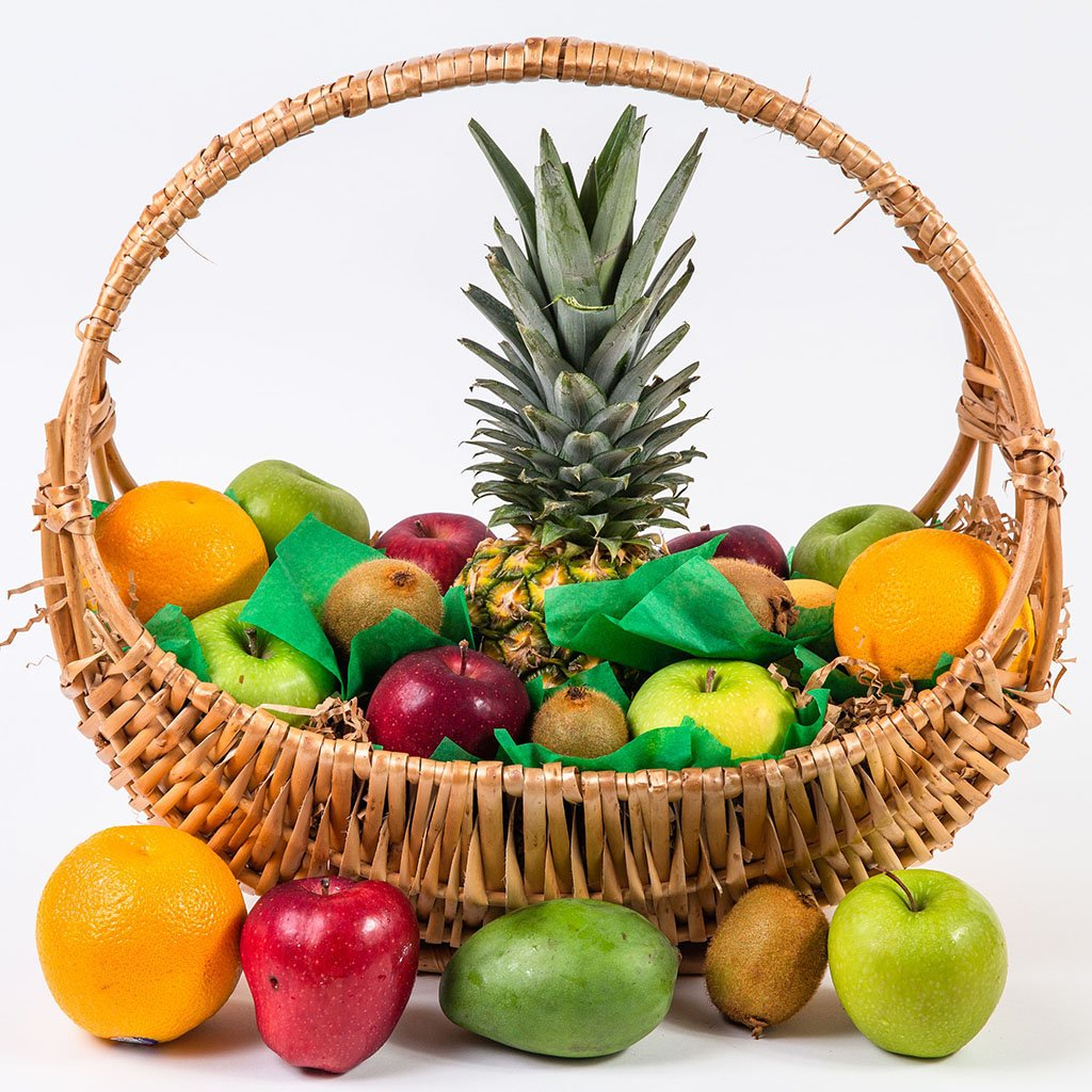 Happy, Healthy, and Delicious Fruit Gift Basket - GiftBasket.com - Gift Basket