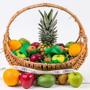 Happy, Healthy, and Delicious Fruit Get Well Gift Basket - GiftBasket.com - Gift Basket