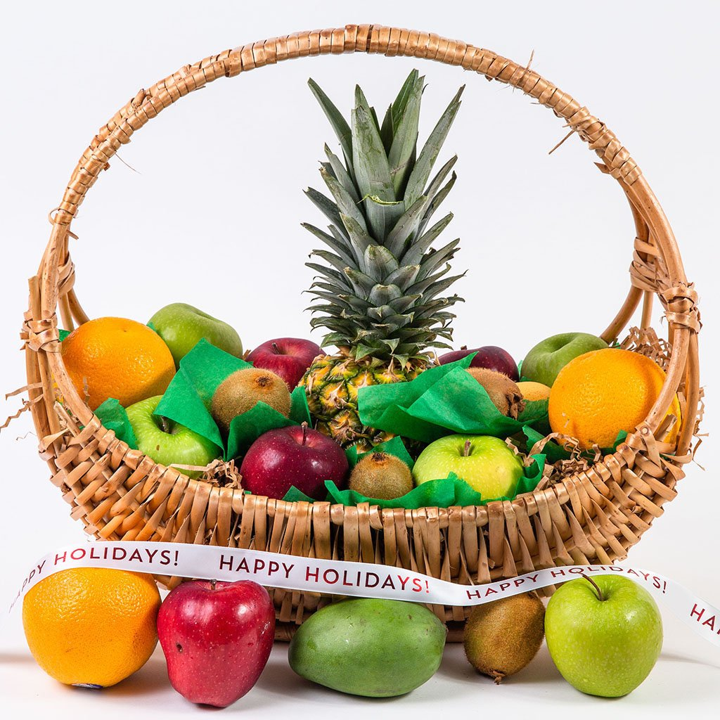Happy, Healthy, and Delicious Fruit Holiday Gift Basket - GiftBasket.com - Gift Basket