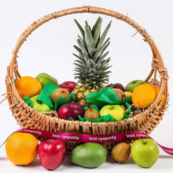 Happy, Healthy, and Delicious Fruit Sympathy Gift Basket - GiftBasket.com - Gift Basket