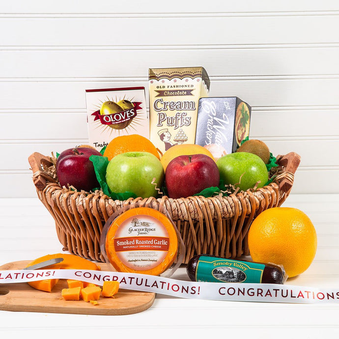 The Perfect Mix Sweet and Savory Congratulations Gift Basket - GiftBasket.com - Gift Basket