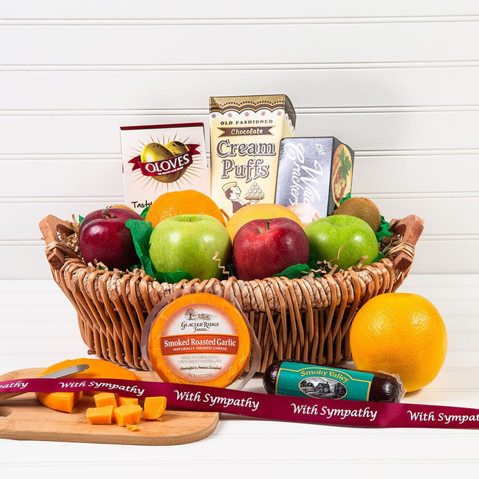 The Perfect Mix Sweet and Savory Sympathy Gift Basket - GiftBasket.com - Gift Basket