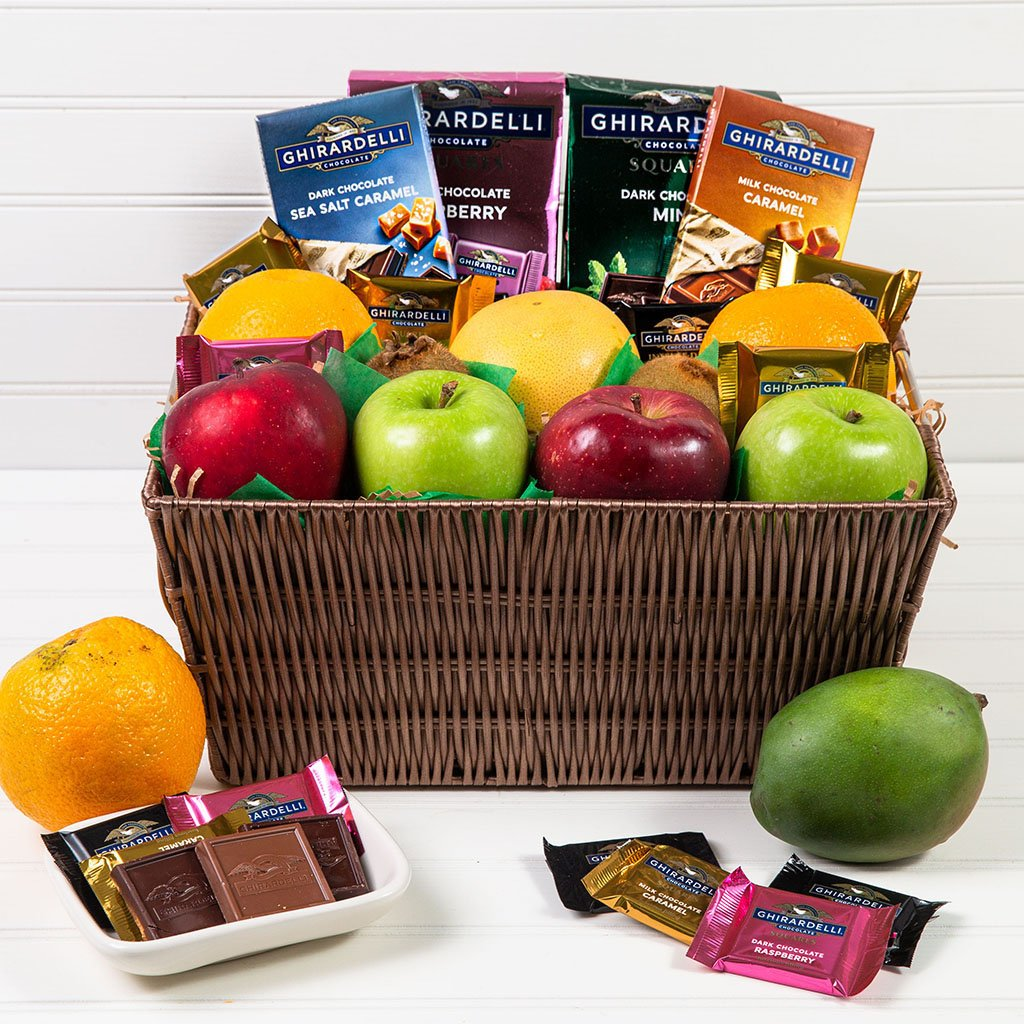 Heavenly Fruit and Chocolate Gift Basket - GiftBasket.com - Gift Basket