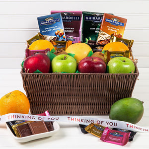 Heavenly Fruit and Chocolate Thinking of You Gift Basket