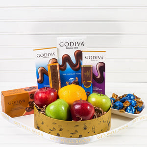 Sweet and Juicy Chocolate & Fruit Get Well Basket