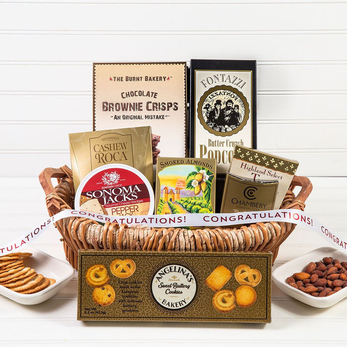The Lavish Treats Congratulations Gift Basket - GiftBasket.com - Gift Basket