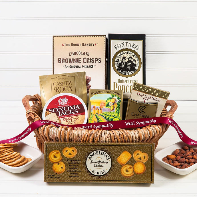 The Lavish Treats Sympathy Gift Basket - GiftBasket.com - Gift Basket