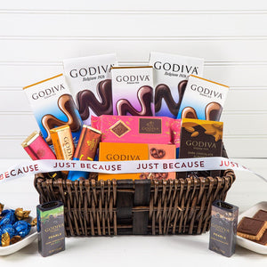 Delicious Dreams of Chocolate Just Because Gift Basket - GiftBasket.com - Gift Basket