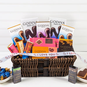 Delicious Dreams of Chocolate I Love You Gift Basket