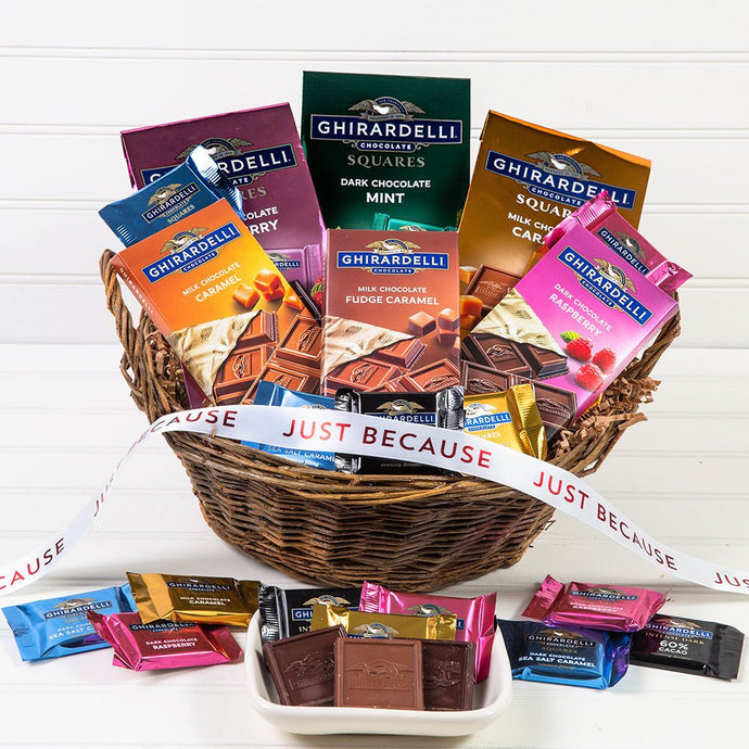 For the Love of Chocolate Just Because Gift Basket - GiftBasket.com - Gift Basket