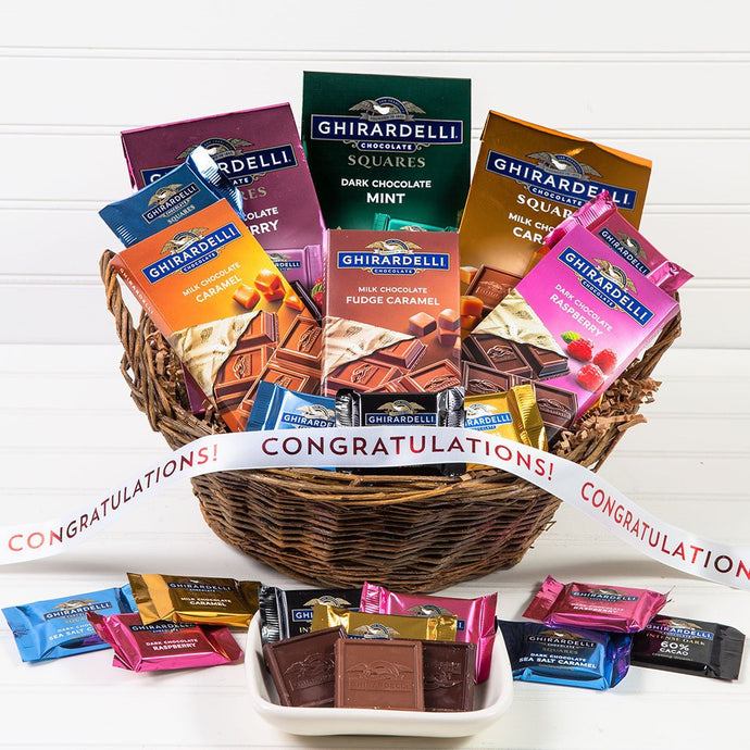 For the Love of Chocolate Congratulations Gift Basket - GiftBasket.com - Gift Basket