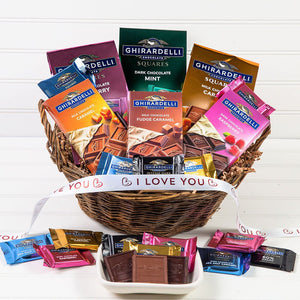 For the Love of Chocolate I Love You Gift Basket