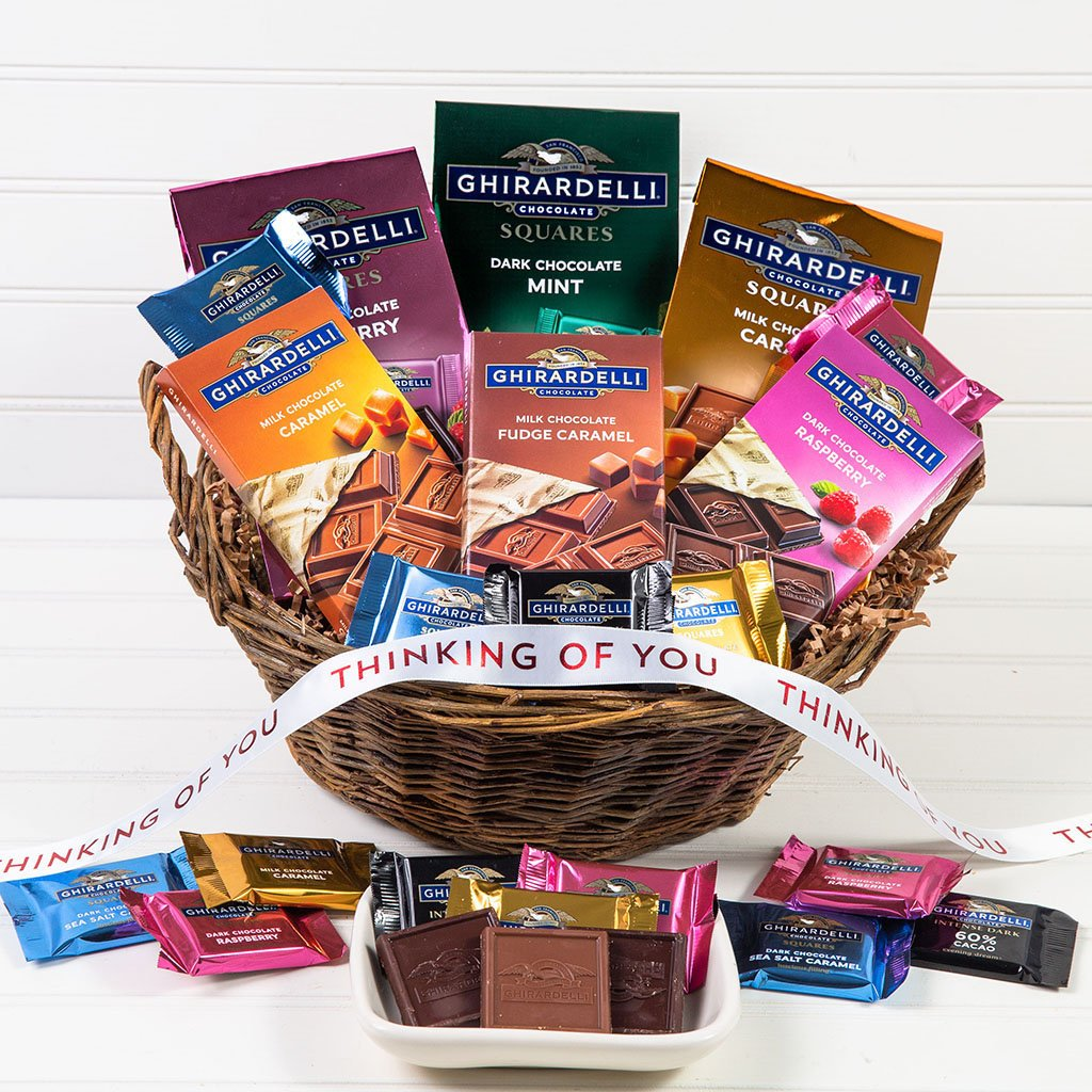 For the Love of Chocolate Thinking of You Gift Basket - GiftBasket.com - Gift Basket