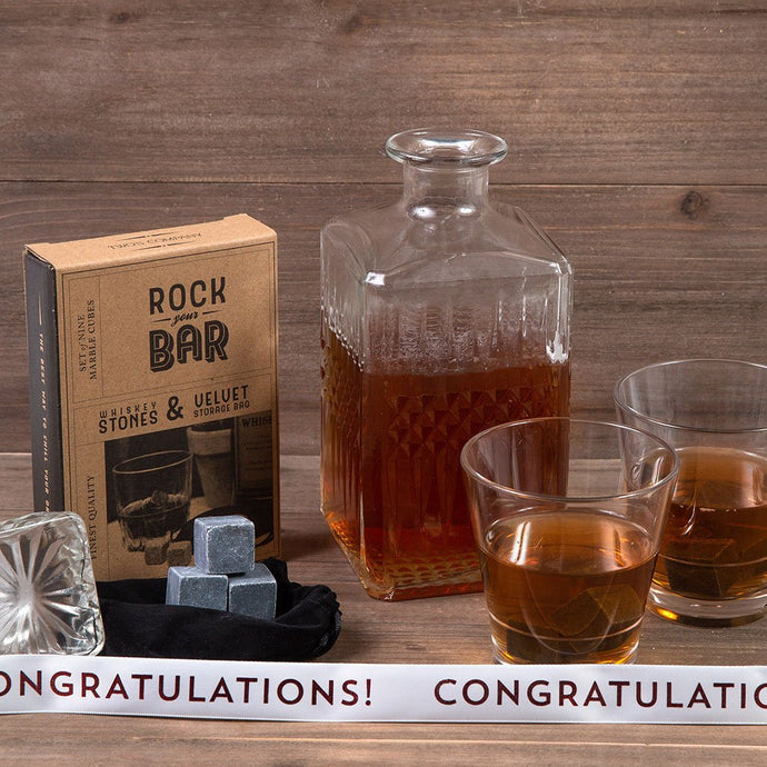 Men's Whiskey Night - Congratulations - GiftBasket.com - Gift Set