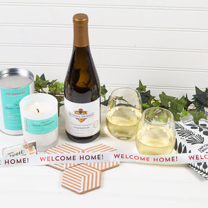 Welcome Home White Wine Gift Set