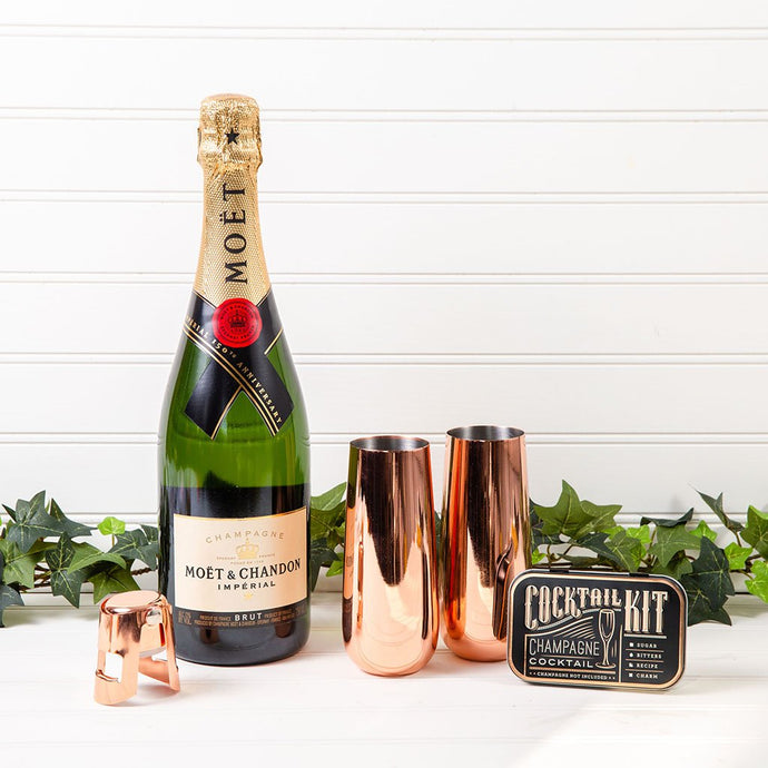 Moet & Chandon Celebration Champagne Set - GiftBasket.com - Gift Set