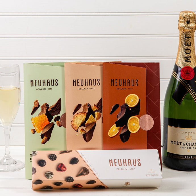Moet & Chandon Chocolate Dreams Champagne Set - GiftBasket.com - Gift Set