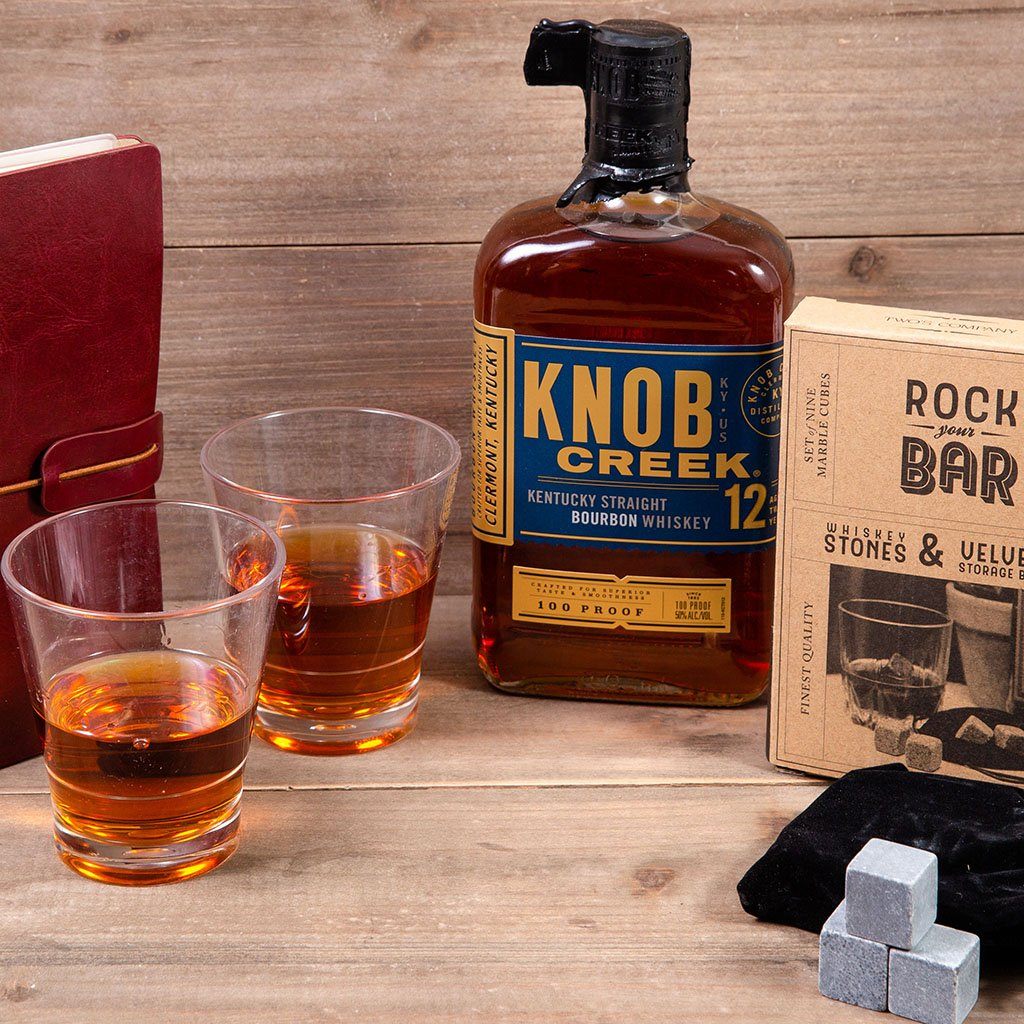 Whiskey On The Rocks With Knob Creek Bourbon Whiskey