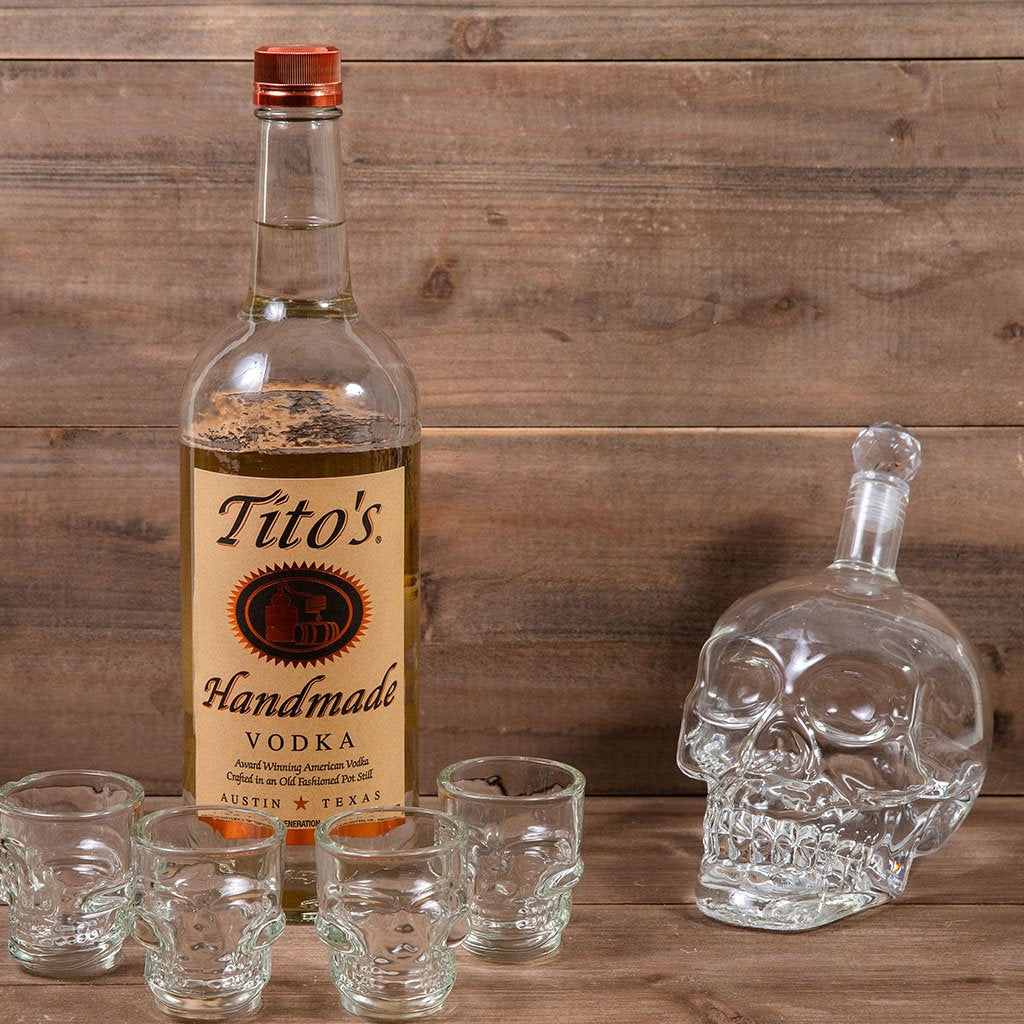 Cocktail Gift Basket - The Crystal Skull Vodka Gift Set with Tito's Handmade Vodka by GiftBasket.com