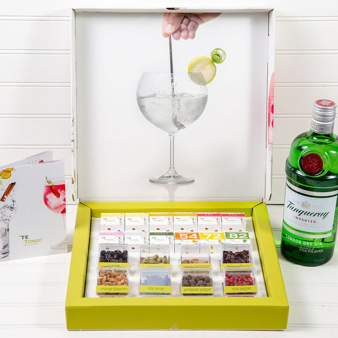 The Te' Tonic Infusion Party Box with Tanqueray Imported Gin - GiftBasket.com - Gift Set