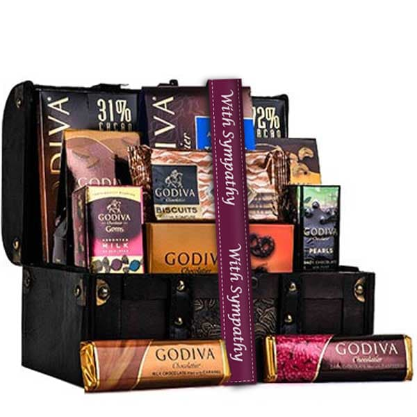 Godiva Sympathy Chocolate Chest - GiftBasket.com - Gift Basket