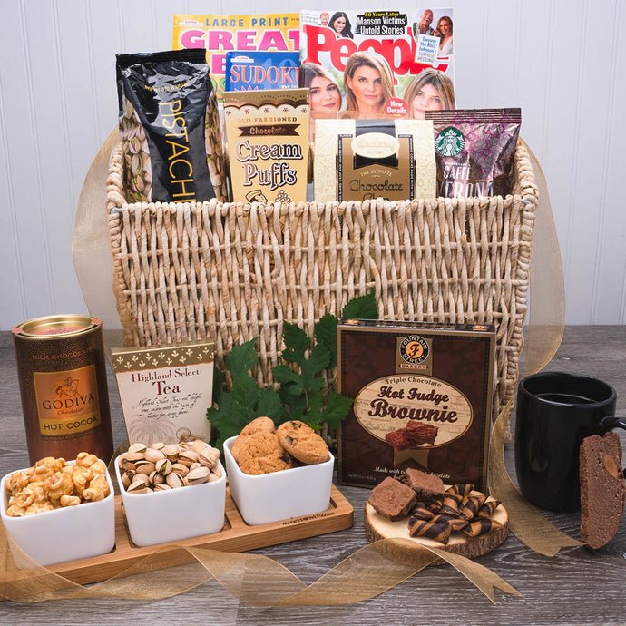 Gossip and Goodies Magazine Basket - GiftBasket.com - Gift Basket
