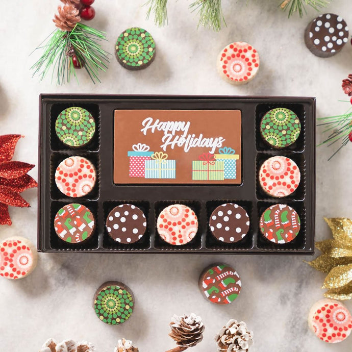 Happy Holidays Chocolate Truffle Treats (HCL Private Exclusive Offer) - GiftBasket.com - Private Offer