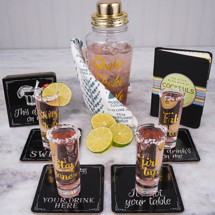Happy Hour Cocktails Gift Set - GiftBasket.com - Gift Set