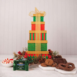 Have a Sweet Holiday Gift Tower - GiftBasket.com - Gift Tower