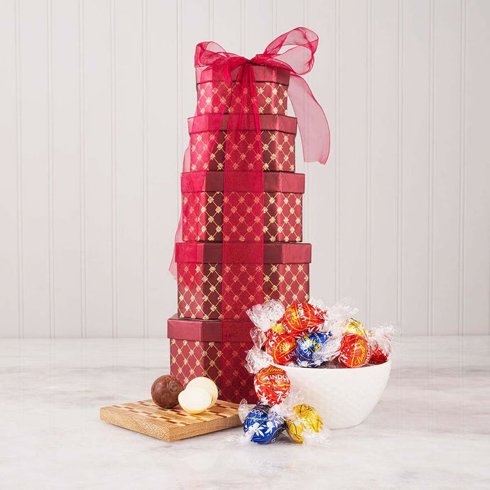 Holiday Truffles Gift Tower (HCL Private Exclusive Offer) - GiftBasket.com - Private Offer