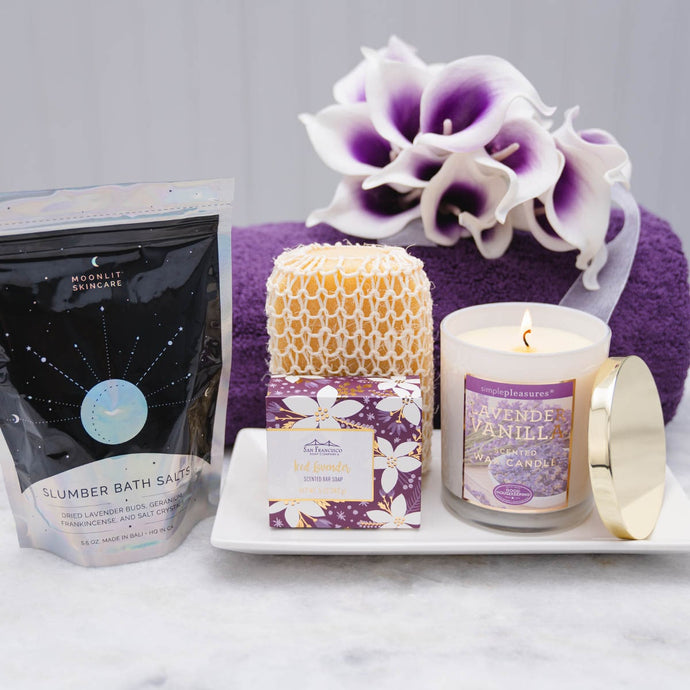Lavender with Love Spa Gift Set - GiftBasket.com - Gift Set