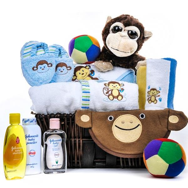 Monkeying Around Baby Gift Basket