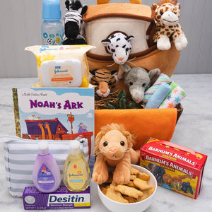Noah's Cuddly Friends Baby Basket