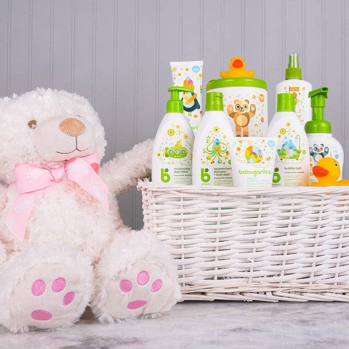Only the Best for Baby Girl Gift Basket