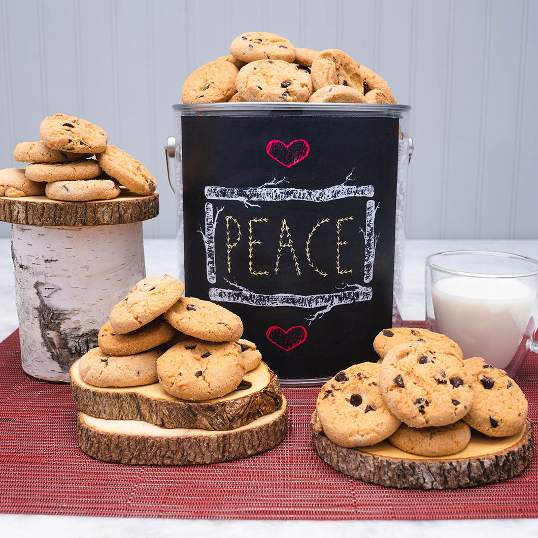 Peace, Love, and Cookies Gift Tin