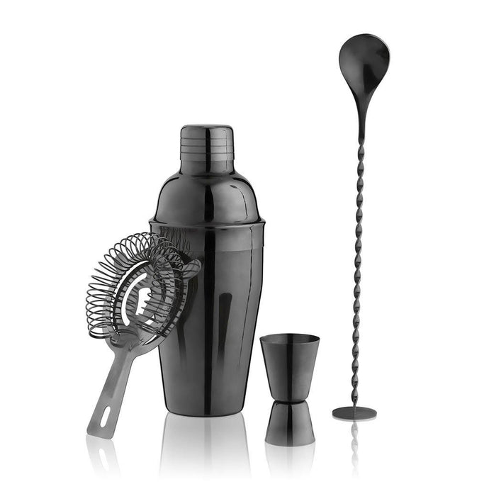 Gunmetal Black Barware Set - GiftBasket.com - Branded