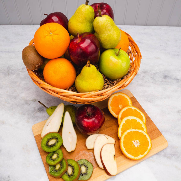 Sympathy Greetings Fruit Gift Basket - GiftBasket.com - Gift Basket