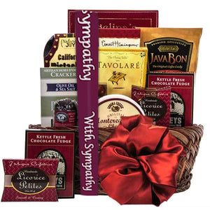 Tasteful Sympathy Greetings - GiftBasket.com - Gift Basket