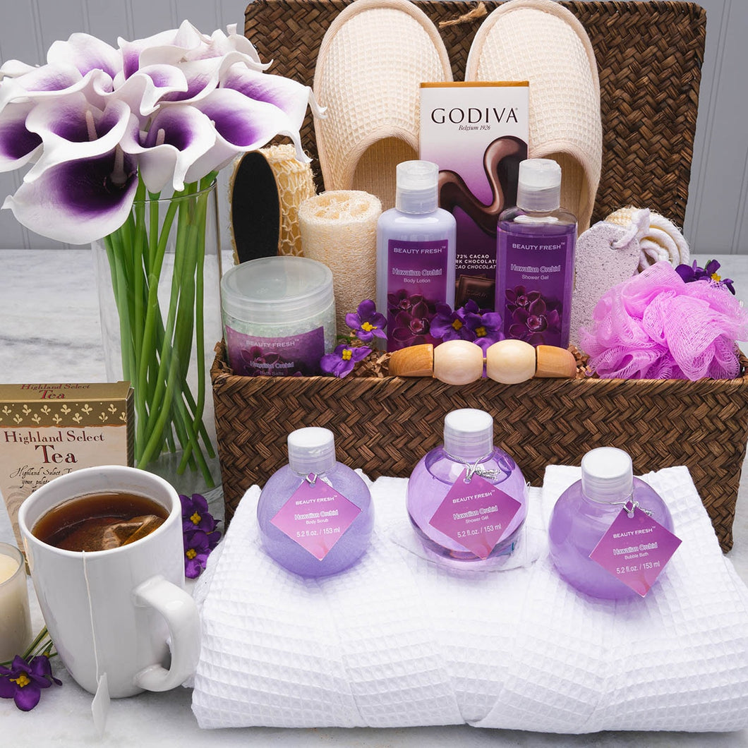 The Blissful Thinking Home Spa Basket