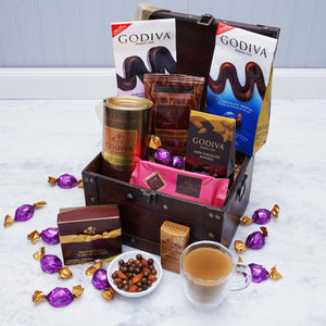 The Decadent Godiva Chocolate Basket