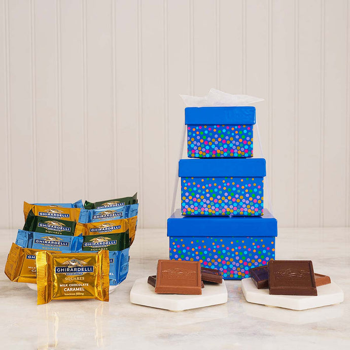 The Ghirardelli Chocolate Triple Threat Gift Tower