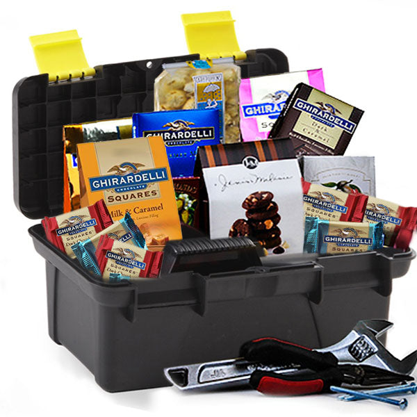 Toolbox of Chocolates - GiftBasket.com - Gift Box