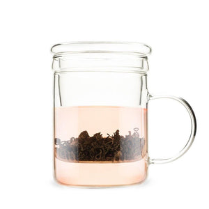 Pinky Up Double Walled Glass Mug