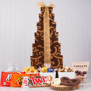 Unlimited Sweets Snack Gift Tower - GiftBasket.com - Gift Tower