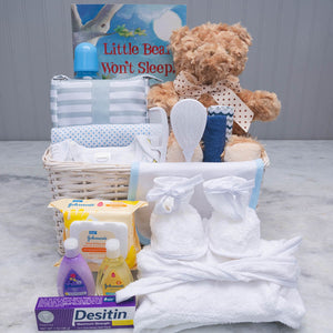 Welcome to the world, little one! Baby Basket - GiftBasket.com - Gift Basket