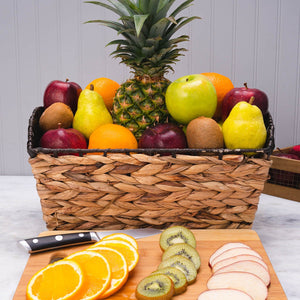 With Sympathy Deluxe Fruit Gift Basket
