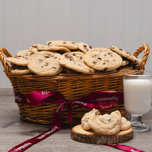 With Sympathy Homemade Cookie Gift Basket